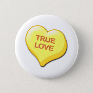 True Love Candy Heart Button