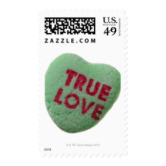True love candy heart postage