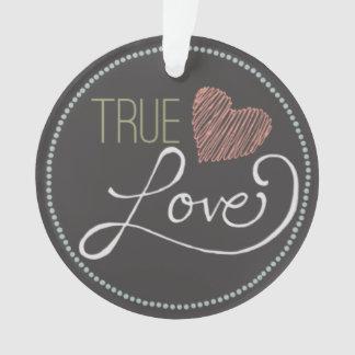 True Love Chalkboard Heart Decorative Ornament