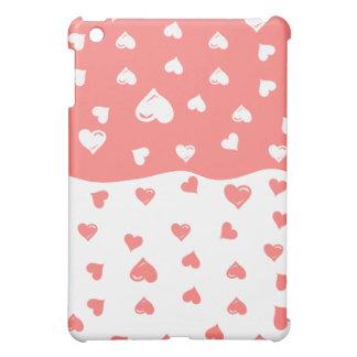 True love Coral Hearts Cover For The iPad Mini
