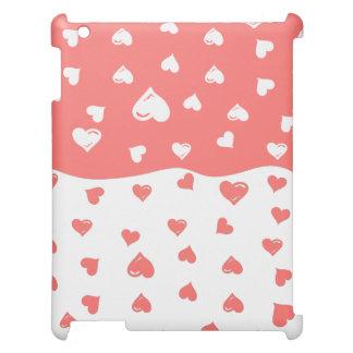 True love Coral Hearts iPad Case