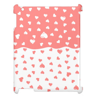 True love Coral Hearts iPad Cover