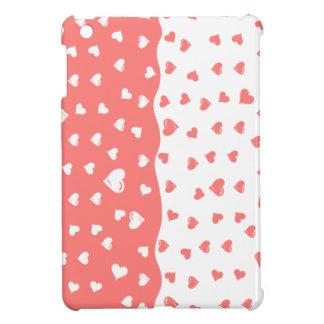 True love Coral Hearts iPad Mini Covers