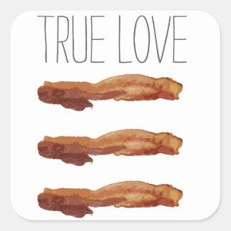 True Love Cut Out Streaky Bacon Artsy Square Sticker