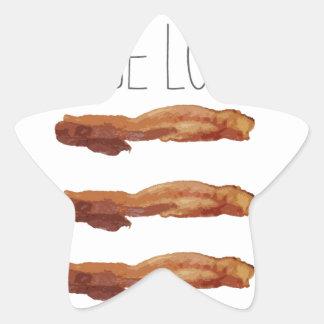 True Love Cut Out Streaky Bacon Artsy Star Sticker