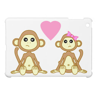 True Love Cute Monkey Boy and Girl Case For The iPad Mini