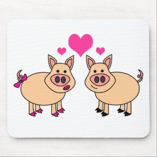True Love - Cute Pig Cartoon Mouse Pad