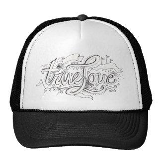 True Love Doodle Design Trucker Hat
