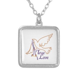 True Love Dove Silver Plated Necklace