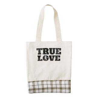 True Love Figure Skating (Distressed) Zazzle HEART Tote Bag