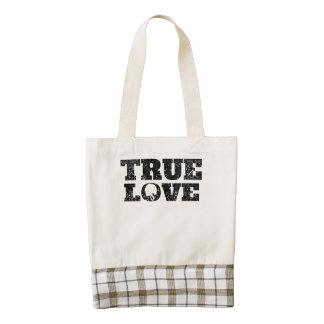 True Love Football (Distressed) Zazzle HEART Tote Bag
