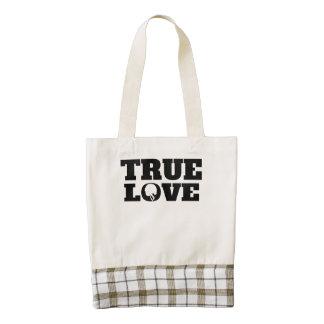 True Love Football Zazzle HEART Tote Bag