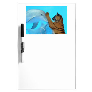 True Love: Friendship: Dolphin and Tiger meet Dry Erase Whiteboards
