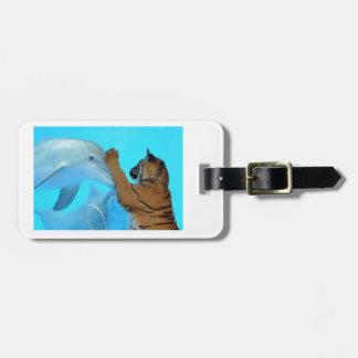 True Love: Friendship: Dolphin and Tiger meet Luggage Tag