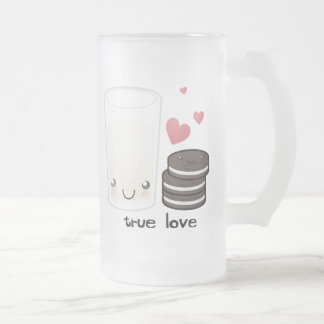True Love Frosted Glass Beer Mug