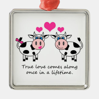 True Love Happy Cows Ornament
