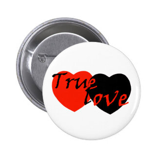True Love Hearts 2 Inch Round Button