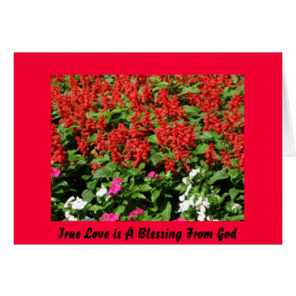 True Love is A Blessing From God Greeting Card
