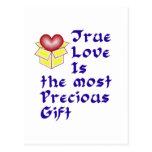 True Love Is ... - Blue Postcard