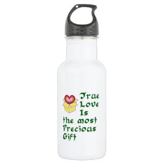 True Love Is ... - Green Stainless Steel Water Bottle