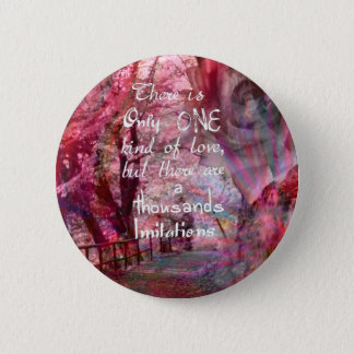True love is not easy to find it pinback button