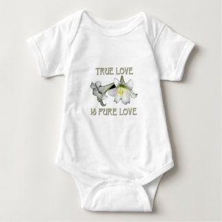 True Love is Pure Love (White Easter Lilies) Baby Bodysuit