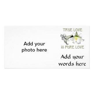 True Love is Pure Love (White Easter Lilies) Card