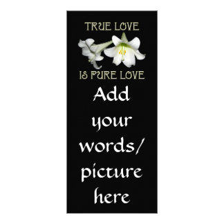 True Love is Pure Love (White Easter Lilies) Custom Rack Cards
