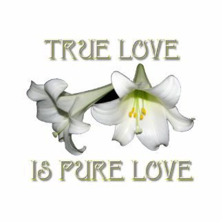 True Love is Pure Love (White Easter Lilies) Standing Photo Sculpture