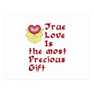 True Love Is ... - Red Postcard