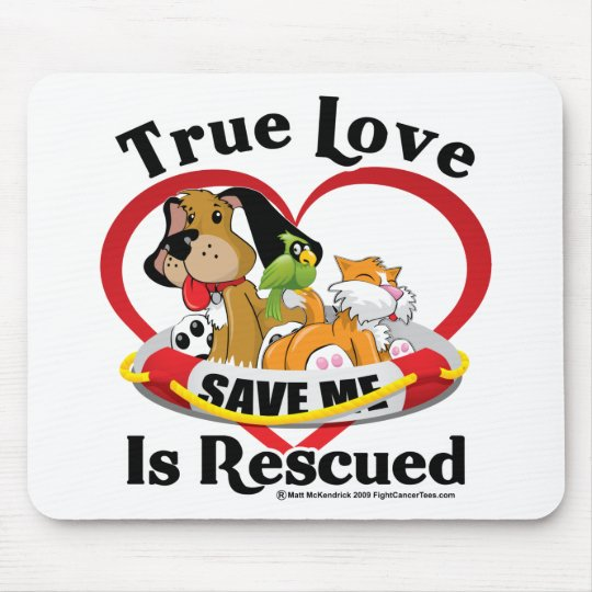 True Love is Rescued Mouse Pad