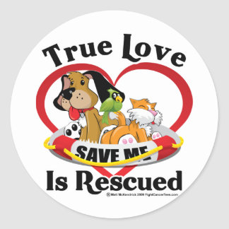 True Love is Rescued Stickers