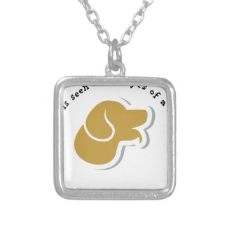 True Love is Seen Rescued Dog Silver Plated Necklace
