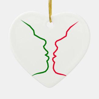 True Love Lingers  TEMPLATE DIY add name of lover Ceramic Ornament