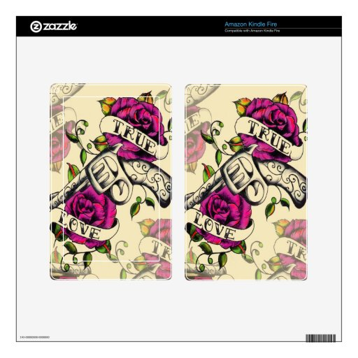 True Love Locked and Loaded Products Skin For Kindle Fire