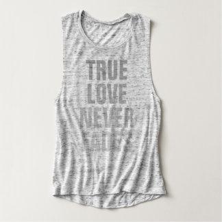 True Love Never Fades Flowy Muscle Tank Top