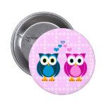 True Love - Owl Cartoon 2 Inch Round Button