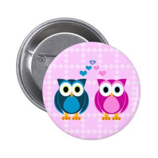 True Love - Owl Cartoon Button