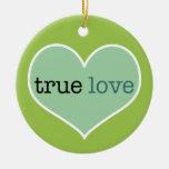 True Love   Personalized Valentine's Day Ornament