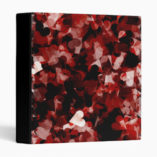 True Love Red Hearts Emotion with Black Pink Color 3 Ring Binder