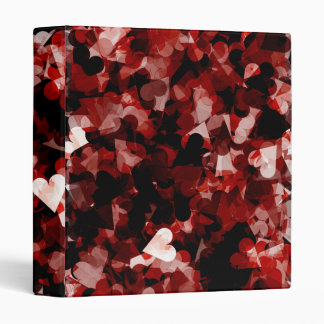 True Love Red Hearts Emotion with Black Pink Color Binders