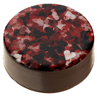 True Love Red Hearts Emotion with Black Pink Color Chocolate Dipped Oreo