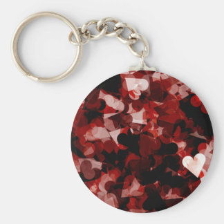 True Love Red Hearts Emotion with Black Pink Color Keychain