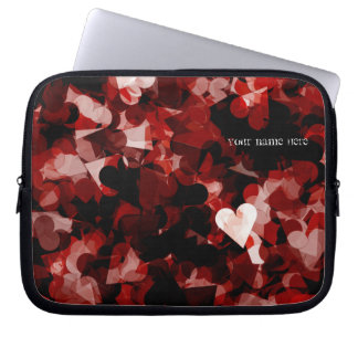 True Love Red Hearts Emotion with Black Pink Color Laptop Computer Sleeves
