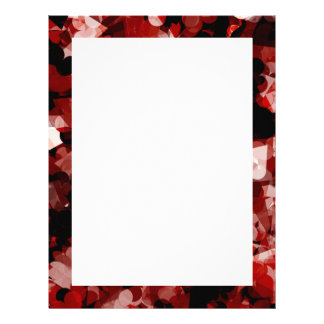 True Love Red Hearts Emotion with Black Pink Color Letterhead