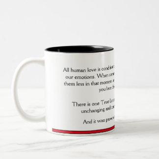 True Love (red) Two-Tone Coffee Mug