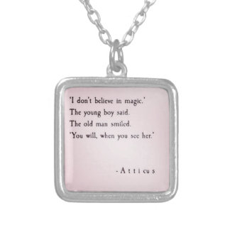 True love silver plated necklace