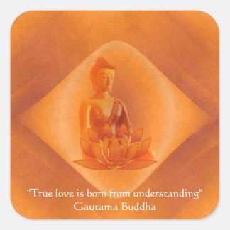 true love square sticker