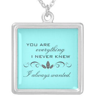 True Love Sterling Silver Necklace {teal}