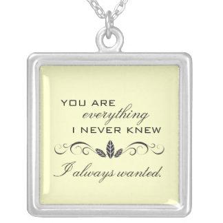 True Love Sterling Silver Necklace {vanilla}